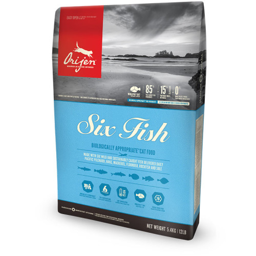 Orijen Six Fish Cat & Kitten Food 5.4kg