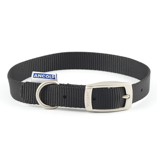Ancol Heritage Nylon Dog Collar Black
