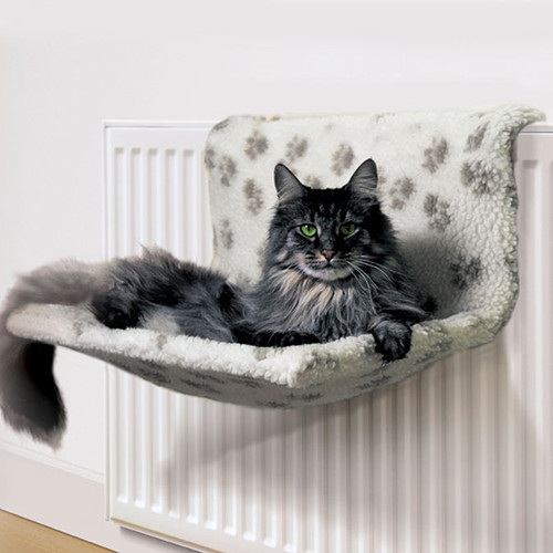 Danish Design Kumfy Kradle Radiator Cat Bed Paw Print Single Radiator