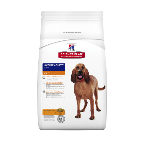 Hills Science Plan Medium Breed Mature 7+ Light Chicken Dry Dog Food