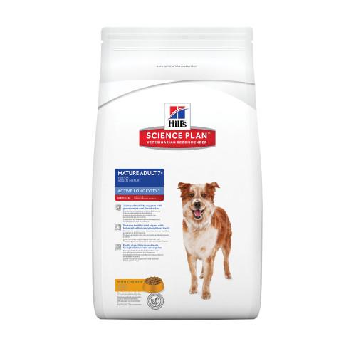 Hills Science Plan Medium Breed Mature 7+ Chicken Dry Dog Food