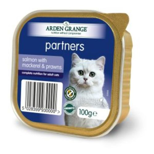 Arden Grange Partners Grain Free Salmon with Mackerel & Prawn Adult Cat Trays
