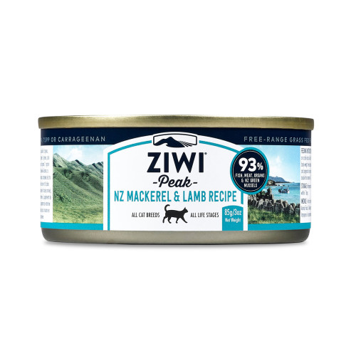ZiwiPeak Daily Cat Cuisine Mackerel & Lamb Cat Food 185g x 12