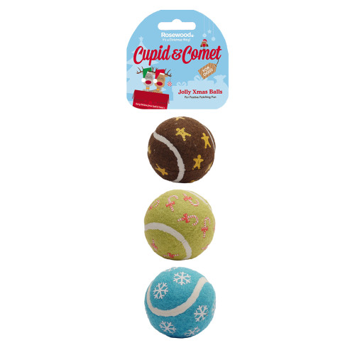 Rosewood Cupid & Comet Jolly Christmas Balls for Dogs