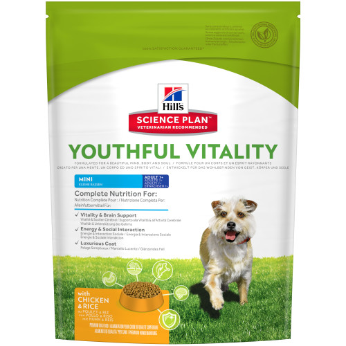 Hills Science Plan Canine Youthful Vitality Adult & Senior 7+ Small Chicken