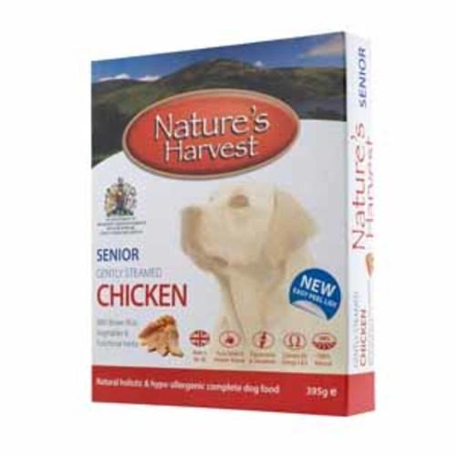 Natures Harvest Chicken & Brown Rice Senior Dog Food 395g x 10
