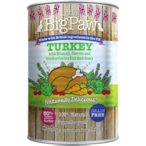 Little Big Paw Turkey Broccoli & Cranberry Dog Food 390g x 12