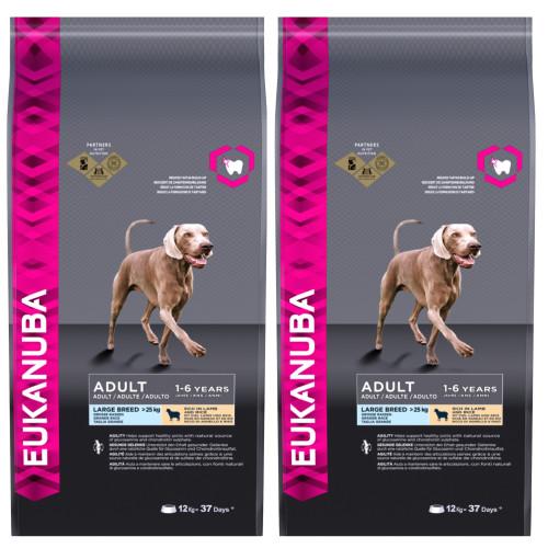 Eukanuba Lamb & Rice Large Breed Adult Dog Food 12kg x 2
