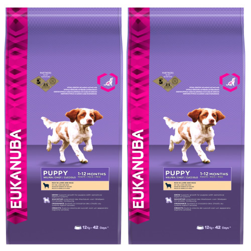 Eukanuba Lamb & Rice Puppy Food 12kg x 2
