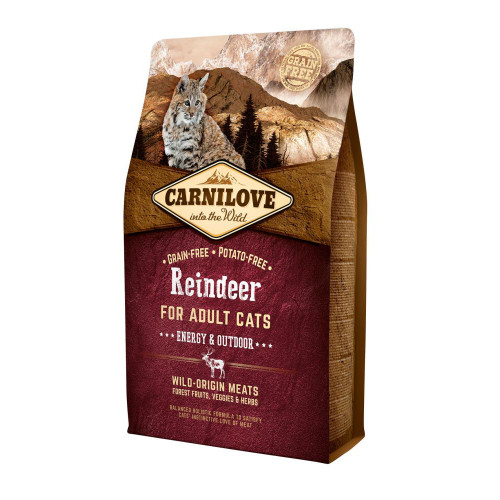 Carnilove Energy & Outdoor Reindeer Adult Cat Food 2kg