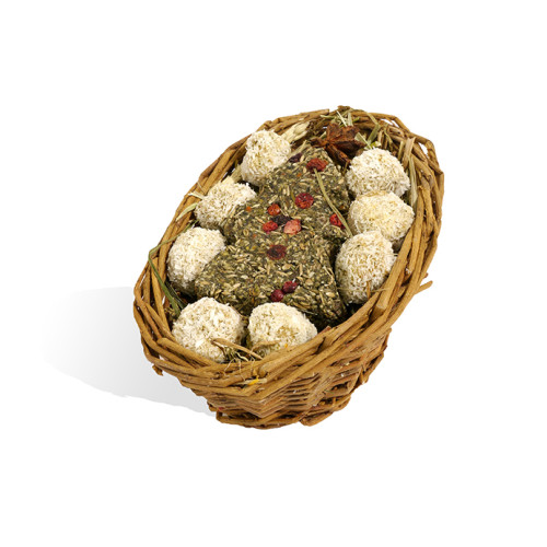 Rosewood Naturals Willow Christmas Basket for Small Animals