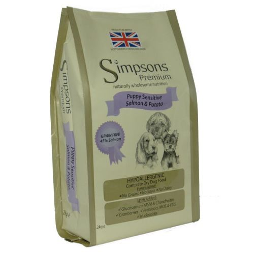 Simpsons Complete Salmon & Potato Sensitive Puppy Food 2kg
