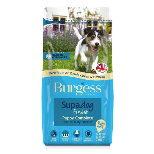Burgess Supadog Complete Chicken Puppy Dog Food 2kg
