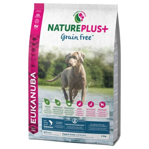 Eukanuba Nature Plus Salmon Grain Free All Breeds Puppy Food