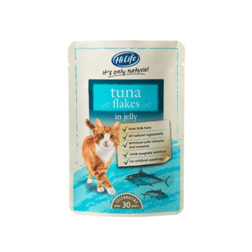 HiLife Its Only Natural Tuna Flakes in Jelly Adult Cat Food