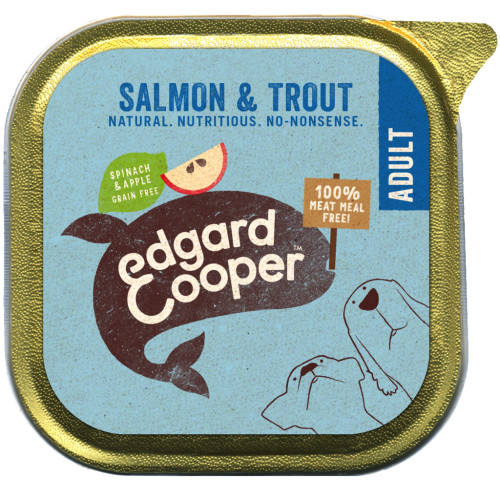 EdgardCooper Salmon & Trout with Spinach & Apple Wet Adult Dog Food