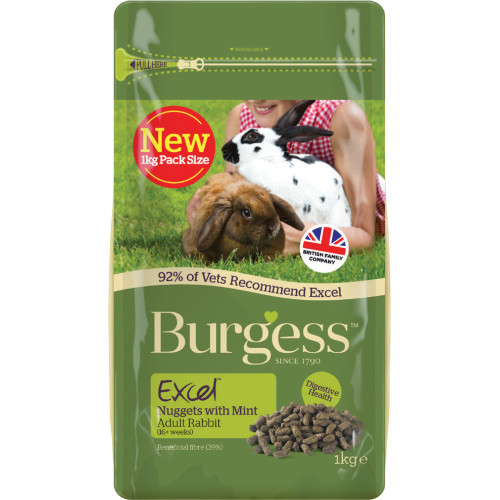 Burgess Excel Nuggets with Mint Adult Rabbit Food