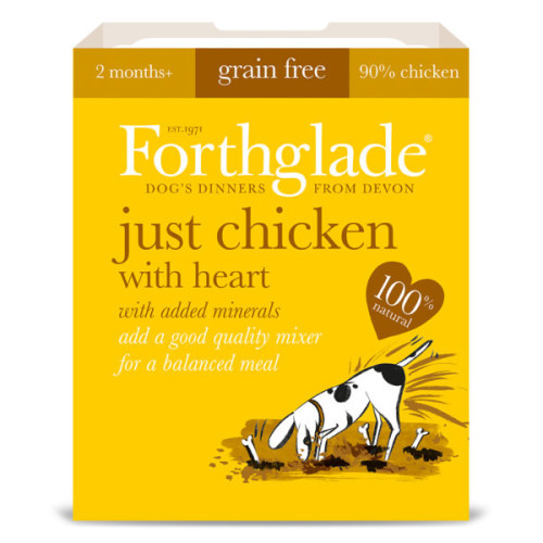 Forthglade Just Chicken with Heart Dog Food 395g x 36