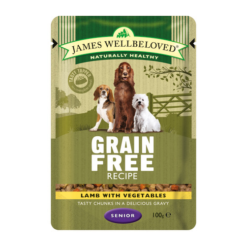 James Wellbeloved Lamb Senior Dog Grain Free Pouches