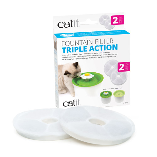 Catit Senses Triple Action Water Fountain Filters