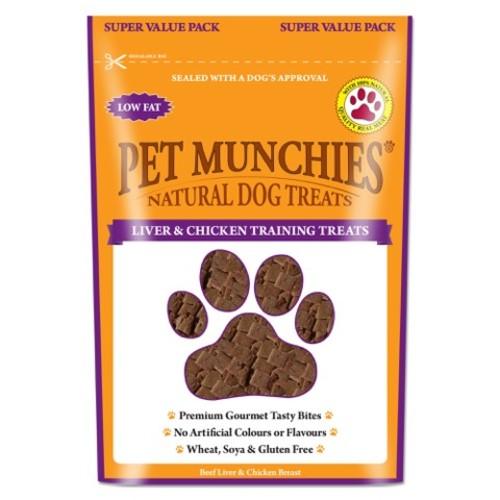 Pet Munchies Dog Training Treats 150g - Liver & Chicken x 8 SAVER PACK