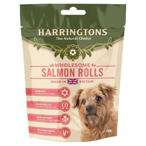 Harringtons Dog Salmon Rolls 100g