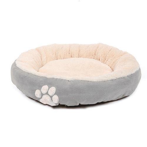 Happy Pet Hugs Round Dove Grey Dog Bed Pet Hugs Dog Bed