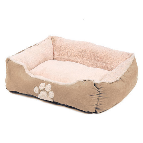 Happy Pet Hugs Square Latte Dog Bed 28