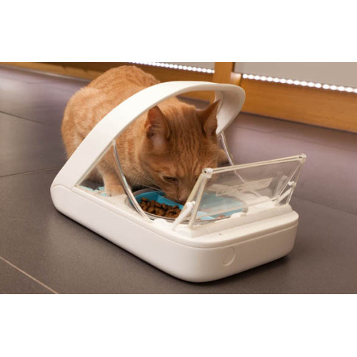 SureFeed Microchip Cat Feeder with Bowls Mat & RFID Tag