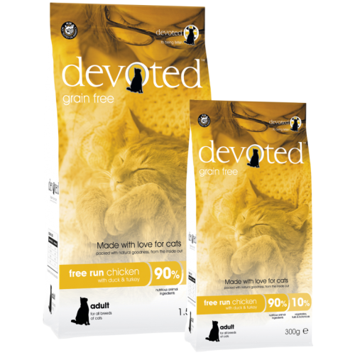 Devoted Free Run Chicken Adult Cat Food 1.5kg x 4