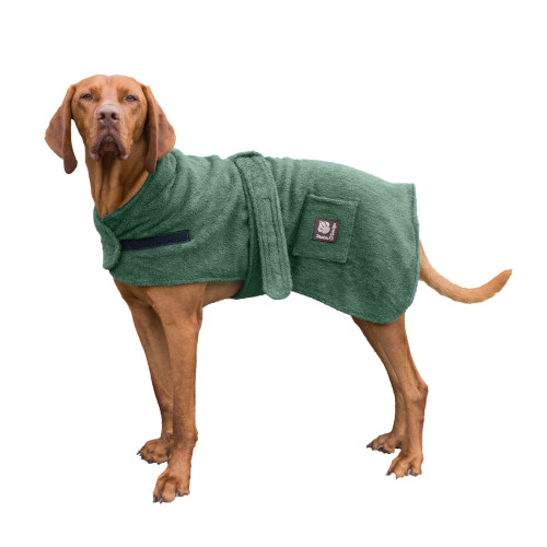 Danish Design Green Towelled Dog Robe