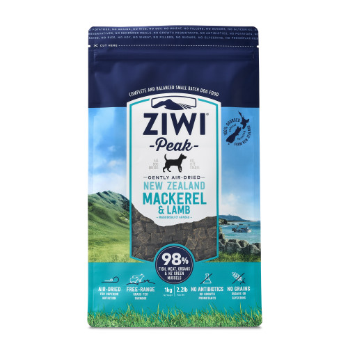 ZiwiPeak Mackerel & New Zealand Lamb Dry Dog Food 1kg