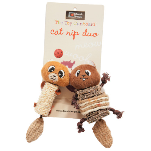 Danish Design Chip and Chap Catnip Duo Cat Toy