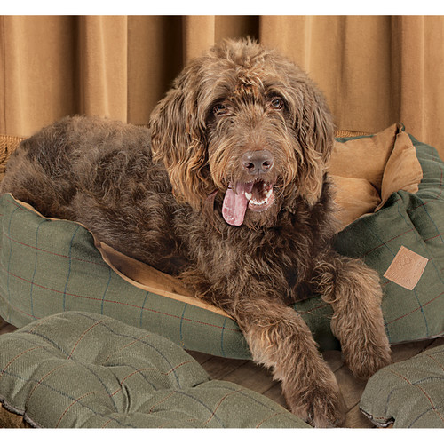 Danish Design Green Tweed Snuggle Dog Bed