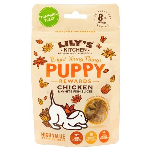 Lilys Kitchen Chicken & Fish Slices Puppy Training Treats 69g x 6 SAVER PACK