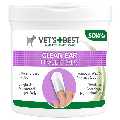Vets Best Cleansing Ear Finger Pads for Dogs