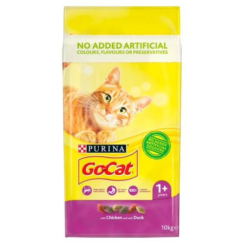 Go-Cat Chicken & Duck Adult Cat Food 10kg