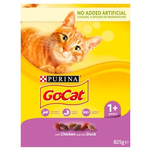 Go-Cat Chicken & Duck Adult Cat Food 825g