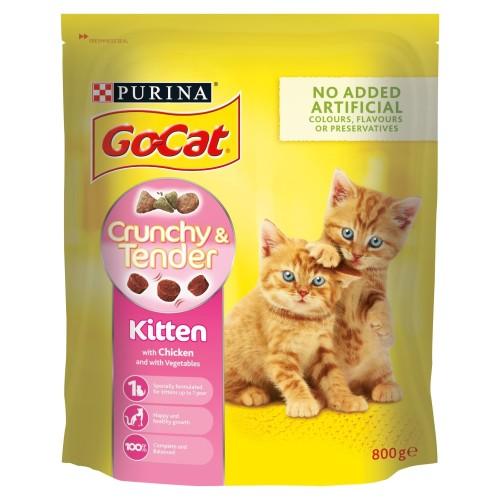 Go-Cat Crunchy And Tender Chicken Kitten Food