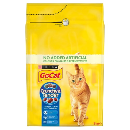 Go-Cat Crunchy Salmon, Tuna & Vegetables Cat Food