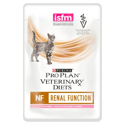 PURINA VETERINARY DIETS Feline NF Renal Function Cat Food 85g x 40 Pouches with Salmon