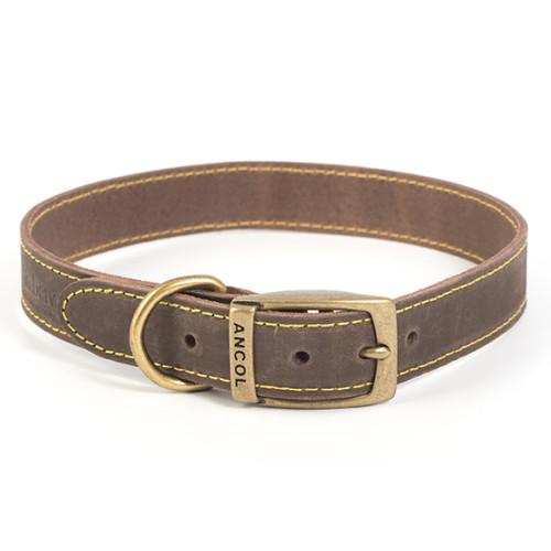 Ancol Timberwolf Sable Leather Dog Collar Size 5