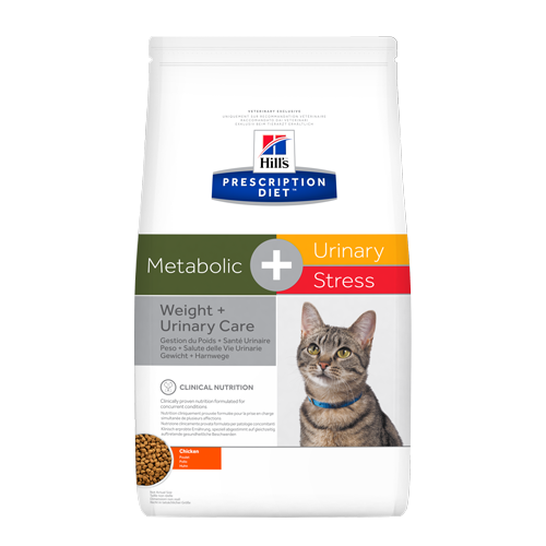 Hills Prescription Diet Feline Metabolic + Urinary Stress Cat Food 4kg
