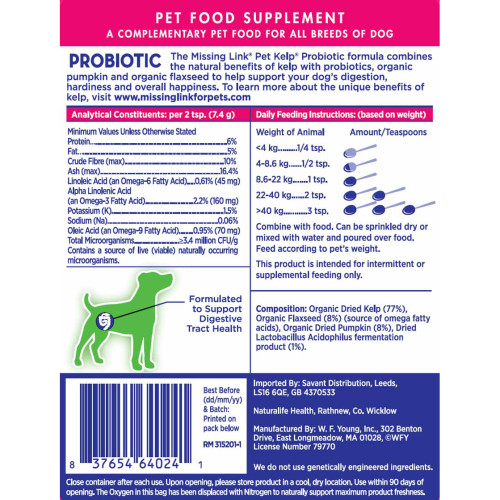 The Missing Link Probiotic Dog Supplement