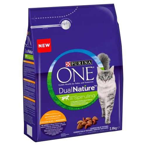 Purina One Dual Nature Chicken Adult Cat Food 2.8kg