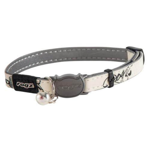 Rogz GlowCat White & Grey Reflective Cat Collar