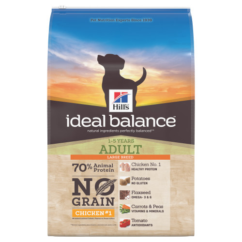 Hills Ideal Balance No Grain Chicken & Potato Large Breed Adult Dry Dog Food 12kg