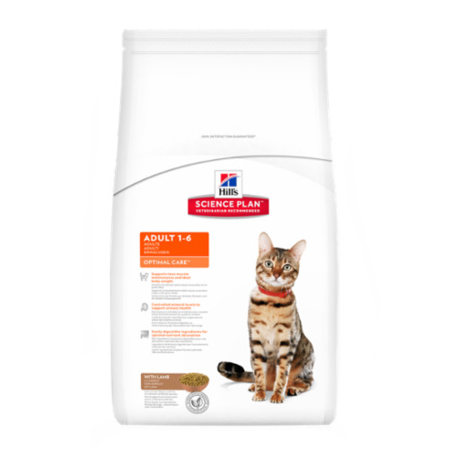 Hills Science Plan Feline Adult Optimal Care Lamb