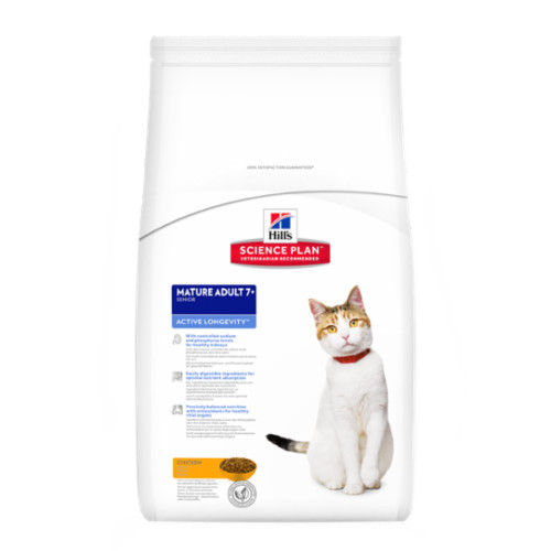 Hills Science Plan Mature Adult 7+ Chicken Dry Cat Food