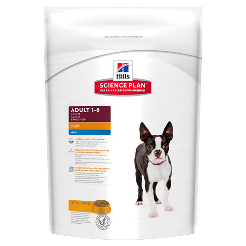 Hills Science Plan Light Mini with Chicken Adult Dog Food